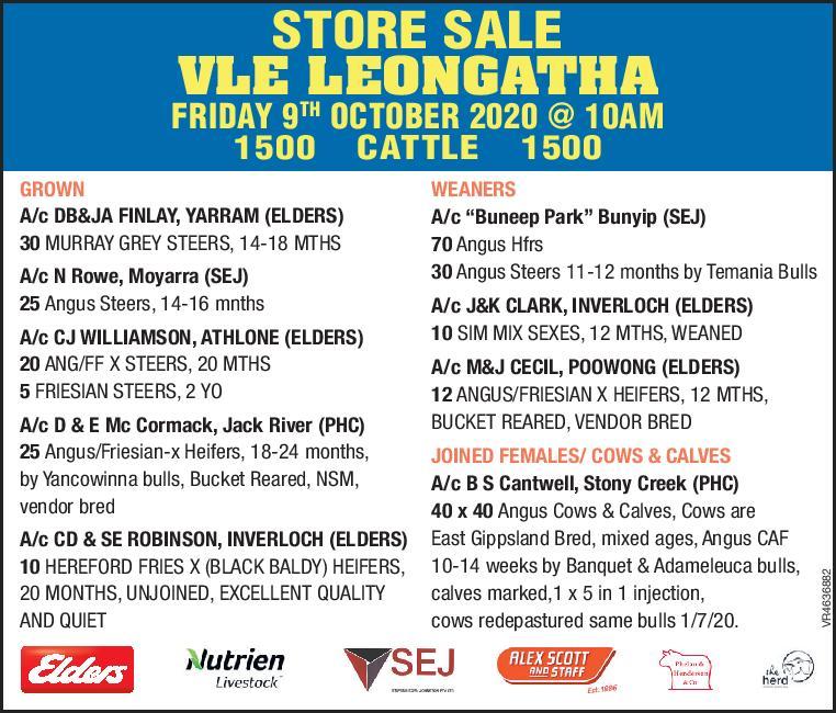Leongatha Store Cattle Sale