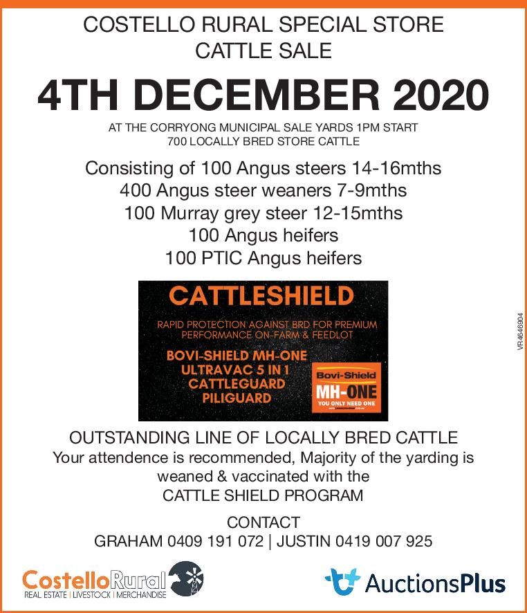COSTELLO RURAL SPECIAL STORE CATTLE SALE