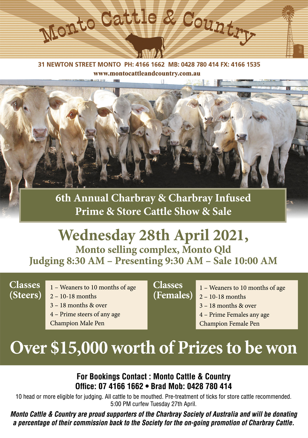 6th Annual Charbray & Charbray Infused Prime & Store Cattle Show & Sale