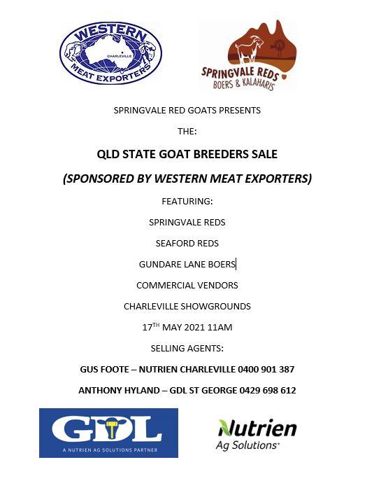QLD State Goat Breeders Sale