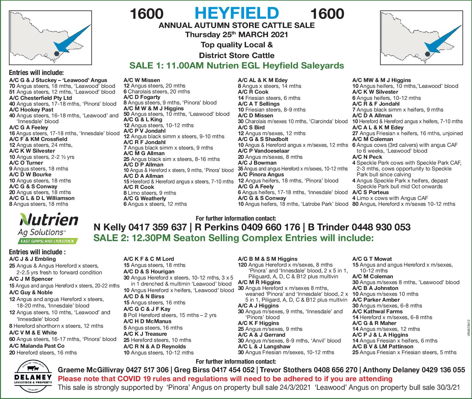 HEYFIELD ANNUAL AUTUMN STORE CATTLE SALE
