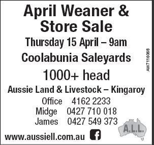 April Weaner & Store Sale