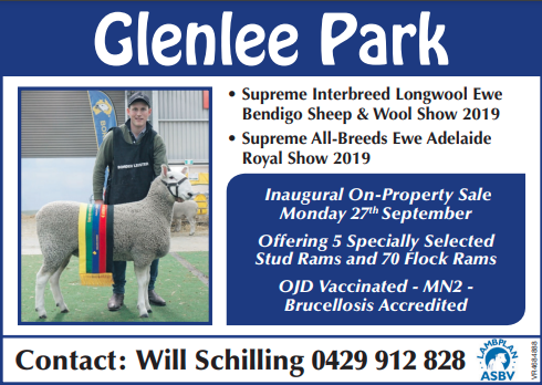 Glenlee Park Border Leicesters Inaugural On-Property Sale