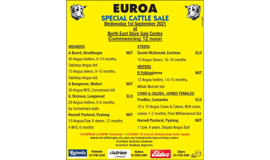 EUROA SPECIAL CATTLE SALE