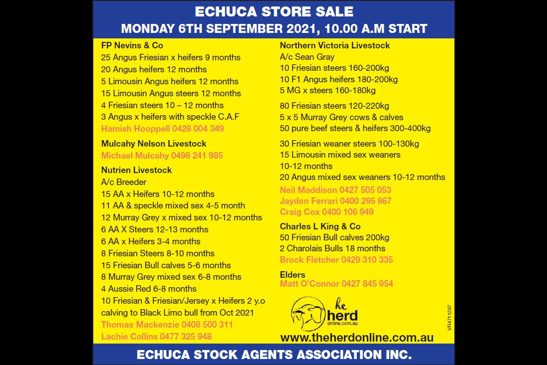 ECHUCA STORE SALE